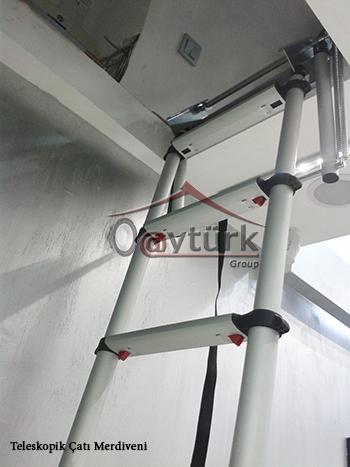 teleskopik çatı merdiveni